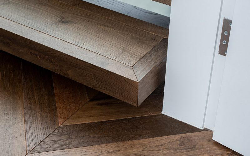Flooring: Madera Chevron Vintage Brown