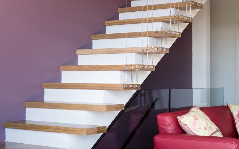 middle cove project interior staircase